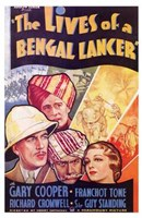 """The Lives of a Bengal Lancer - 11"""" x 17"""""""