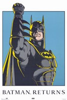 Batman Returns Comic Close Up Framed Print