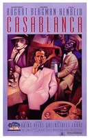 Casablanca Purple Wall Poster