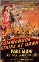 "Commandos Strike At Dawn - 11"" x 17"""