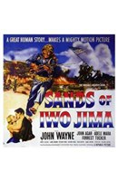 Sands of Iwo Jima - square Wall Poster