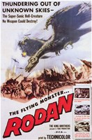 """Rodan Flying Monster - 11"""" x 17"""""""