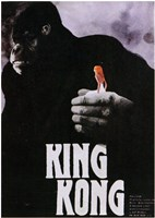 King Kong Close Up Holding Wall Poster