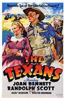 """The Texans With Joan Bennett - 11"""" x 17"""", FulcrumGallery.com brand"""