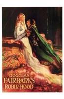 "Robin Hood Douglas Fairbanks and Maid Mariam - 11"" x 17"", FulcrumGallery.com brand"
