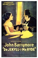 """Dr Jekyll and Mr Hyde John Barrymore - 11"""" x 17"""""""