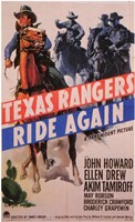 "Texas Rangers Ride Again - 11"" x 17"" - $15.49"