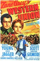 """Western Union - movie cover - 11"""" x 17"""""""