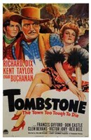 """Tombstone  the Town Too Tough to Die - 11"""" x 17"""""""