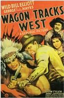"""Wagon Tracks West - 11"""" x 17"""""""