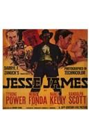 """Jesse James Power Fonda Kelly and Scott - 11"""" x 17"""""""