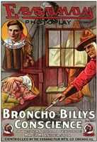 """Broncho Billy's Conscience - 11"""" x 17"""""""