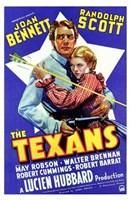 """The Texans Randolph Scott - 11"""" x 17"""""""