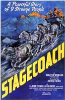 Stagecoach A Powerful Story of 9 Strange People Wall Poster
