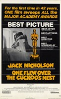 """One Flew Over the Cuckoo's Nest Academy Awards - 11"""" x 17"""""""