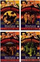 "Robinson Crusoe of Clipper Island 4 Posters - 11"" x 17"""