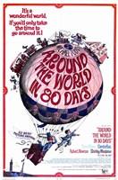 """Around the World in 80 Days Hot Air Balloon - 11"""" x 17"""""""