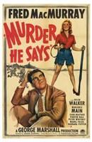 "Murder  He Says - 11"" x 17"", FulcrumGallery.com brand"
