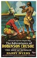 "Adventures of Robinson Crusoe Cartoon - 11"" x 17"""