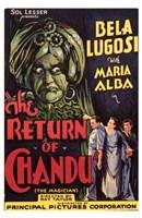 """The Return of Chandu - 11"""" x 17"""""""