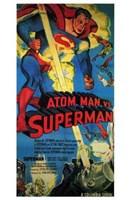 """Atom Man Vs Superman Tall - 11"""" x 17"""""""