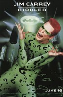 Batman Forever Jim Carrey as Riddler Framed Print