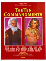 "The Ten Commandments Moses and Pharoah - 11"" x 17"""