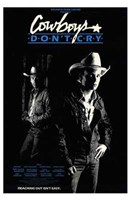 """Cowboys Don't Cry - 11"""" x 17"""""""