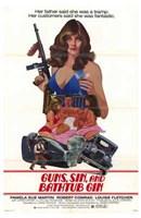 """Guns  Sin and Bathtub Gin - 11"""" x 17"""", FulcrumGallery.com brand"""