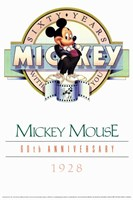 Mickey Mouse 60Th Anniversary Gallery Fine Art Print