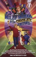 Willy Wonka and the Chocolate Factory - holding golden ticket Wall Poster