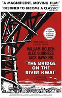 "Bridge on the River Kwai Black Red & White - 11"" x 17"""