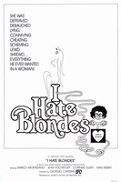 """I Hate Blondes - 11"""" x 17"""""""