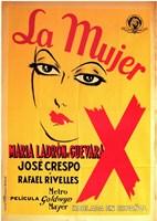 "Mujer X  La - 11"" x 17"""