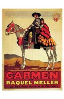 Carmen - on a horse Wall Poster