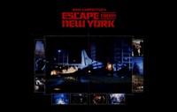"""Escape from New York Scenes - 17"""" x 11"""""""