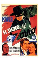 The Mark of Zorro Power (spanish) Wall Poster