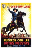 """They Died with Their Boots On Spanish - 11"""" x 17"""""""