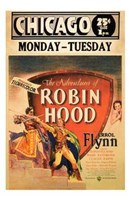 """The Adventures of Robin Hood Chicago - 11"""" x 17"""""""