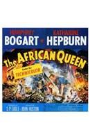 """The African Queen Humphrey Bogart & Audrey Hepburn - 11"""" x 17"""""""