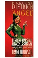 Angel Green and Red Wall Poster