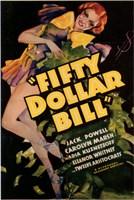 """Fifty Dollar Bill - 11"""" x 17"""""""
