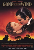 Gone with the Wind Scarlett O'Hara & Rhett Butler Framed Print