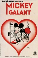 Mickey Mouse - heart Wall Poster