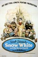 "Snow White and the Seven Dwarfs - 11"" x 17"""
