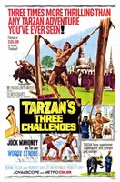 Tarzan's Three Challenges, c.1963 Wall Poster