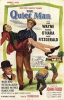 "The Quiet Man Fitzgerald John Wayne & O'Hara - 11"" x 17"""