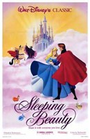 "Sleeping Beauty Dancing on Clouds with Prince Charming - 11"" x 17"""