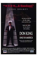 """Don King: Only in America - 11"""" x 17"""" - $15.49"""