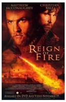 """Reign of Fire Movie McConaughey And Bale - 11"""" x 17"""""""